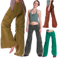 Pixie Goa Doof Trousers, Psy Trance Festival Hippie Flow Pants - Papaya Trousers (CH333R) by Anki