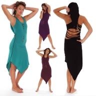 PIXIE HOOD DRESS, psy trance dress - Turquoise