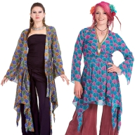 Floaty Boho Kimono Jacket, bohemian Ibiza wrap dress - Feather Wrap (DBANLC) by Altshop UK