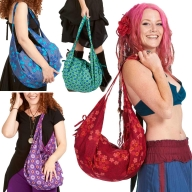 Hippy Beach Bag, boho sack bag, slouch hobo sack - Banana Bag Cotton (DBBACO) by Altshop UK