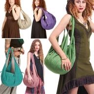 Hippy Beach Bag, boho sack bag, slouch shoulder banana bag - Banana Bag Khadi (DBBAKA) by Altshop UK
