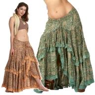 Flower Print High-Low Gypsy Skirt - Gypsy Flower Skirt (DBFRIL2) by Altshop UK