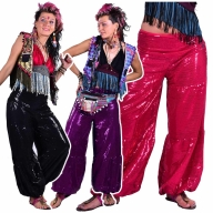 Sequin Doof Glitter Disco Rave Harem Trousers - Full Sequin Trousers (DBFULST) by Lovely Jubbly