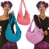 Khadi Cotton Boho Bag, Slouchy Hippy Banana Bag - Khadi Slouch Bag (DBKHBAB) by Altshop UK