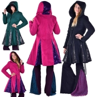 Sparkly Ladies Warm Winter Circus Coat With Sequin - Glitter Coat (DBLYBC) by Altshop UK