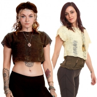 Distressed Cropped Punky Tee - Altered Tee (DCATEE) by Altshop UK