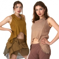 Natural Eco Jute Crop Top - Goa Vest (DCGOAV) by Altshop UK