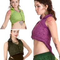 Psy Trance Lace Vest Top - Nadi Vest (DCNADI) By Altshop UK