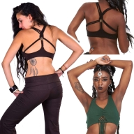Flower Of Life Bra Top, Yoga Clothing, Rave Bra - Yoga Braid Top (DEVBYOT) by Altshop UK