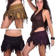 Wrap-around Frayed Ghass Cotton Mini Skirt - Ghass Skirt (DEVGASK) by Altshop UK