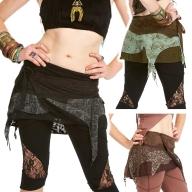 Psy Trance Miniskirt, pixie festival doof Goa skirt - DEVGIRI by Altshop UK