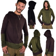 Mens Hooded Top, Hippy Hoodie, Long Sleeve Top - Topa Top (DEVTOPA) by Altshop UK
