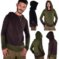 Mens Hooded Top, Hippy Hoodie, Long Sleeve Top - Topa Top (DEVTOPA) by Altshop UK