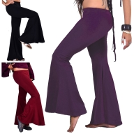 Bell Bottoms Boho Trousers, Yoga Stretch Flare Pants - Yoga Flares (DEVYOFLB) by Altshop UK