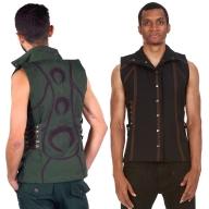 Mens Tribal Psytrance Vest Top - Men Moon Vest (DMMMVE) by Altshop UK