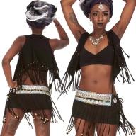 Goa Tribal Fringe Top, Beaded Tassels Trance Waistcoat - Navajo Top (DMNAVI) by Altshop UK