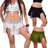 Pixie Skirt, Psy Trance Clothing, Boho Festival Miniskirt - Inspiral Skirt (DMNISS) by Altshop UK