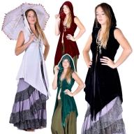 Moon Maiden Velvet Tunic Dress - Moon Tunic (DMWITC) by Altshop UK