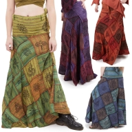 Long Earthy Hippy Patchwork Wrap Skirt - Earth Skirt (DSCN27817) by Altshop UK