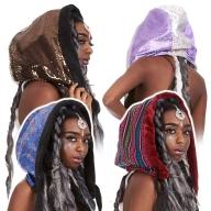 Reversible Satin Fake Fur Hippy Hood - Satin Hood (GFHOOD) by Lovely Jubbly