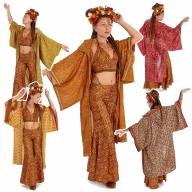 Boho Kimono, Upcycled Hooded Beach Kimono - Beach Kimono (ME13) by Altshop UK