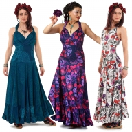 Long Full Gypsy Boho Maxi Dress - Cotton Nani Dress (MENDM4) by Altshop UK