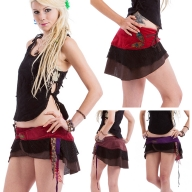 Psy Trance Mini Skirt, micromini hippy skirt