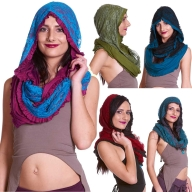Infinity Scarf with Hood, Burning Man Festival Hippy Hood - Infinity Hood (PH1008) by Altshop UK