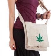 Ganja Leaf Eco Hemp Shoulder Bag