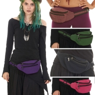 Cotton Canvas Bumbag, plain hippy nepal pocket belt - Plain Bumbag (RAMLABB) by Altshop UK