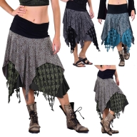 Pagan Wiccan Hippy Goddess Lace Layered Skirt - Three Layer Skirt (RFTHLAS) by Altshop UK