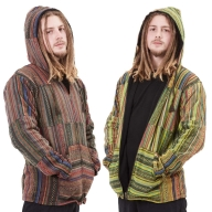 Mens Hippy Patchwork Coat, Mans Hippie Jacket - Mens Patch Jacket (RGMANPJ) by Altshop UK