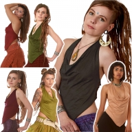 Backless Cowl Neck Psy Top - 4String Top (ROKFOUR) by Altshop UK