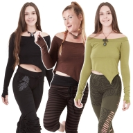 Asymmetrical Long Sleeve Yoga Top - Witch Top (ROKLSST) by Altshop UK