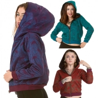Brocade Paisley Cropped Hoodie - Paisley Hoodie (ROKSATH) by Altshop UK