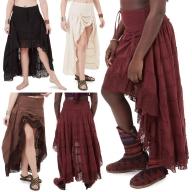 Jute and Lace Boho High Low Skirt - Shakti Skirt (ROKSHAK) by Altshop UK