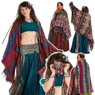 Oversize Boho Blanket Scarf, Large Hippy Shawl Scarf - Rocky Shawl (ROKSHAW) by Altshop UK
