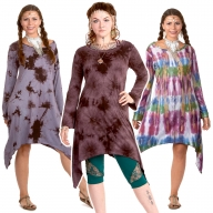 Oversize Hippy Tie Dye Dress - 2 Point Dress Top Tiedye (ROKTWOP2) by Altshop UK