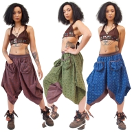 Hippy Harem Pants with Front Pockets - Cathay Ali Babas (RZCATA) by Altshop UK