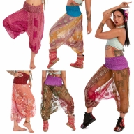 Sheer Beaded Seethrough Bellydance Harem Fairy Trousers - Poetry Ali Babas (SDALIS) by Altshop UK