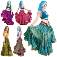25 Yard Gypsy Bellydance Skirt, tribal fusion dance skirt - Siddartha Skirt (SDBESK) by Altshop UK