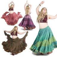 XL Belly Dance Skirt, plus size hippy boho Gypsy skirt - Plus Size Siddartha Skirt (SDBESK) by Altshop UK