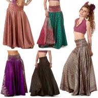Upcycled Silk Saree Gypsy Skirt - Sari Skirt (SDSKIR) by Altshop UK