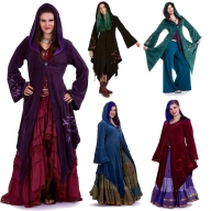 Velvet Faery Goddess Jacket, Boho Goa Psytrance Coat - Hecate Coat (TJK294) by Altshop UK