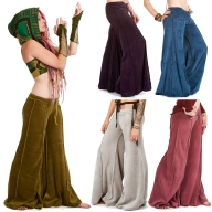 Velvet Flow Pants, extra-wide long bellydance trousers - Velvet Flow Pants (TLP224V) by Altshop UK