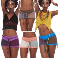 Yoga Booty Shorts, Organic cotton shorts - Hipster Shorts (TLP273) by Altshop UK