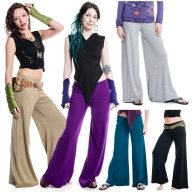 Wide Flare Lounge Pants, pixie flow trousers - TRBAS by Altshop UK