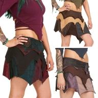 Psy Trance Pixie Vegetarian Leather Goa Skirt - Super Trance Skirt (TT01) by Altshop UK