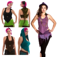 SUMMER FAIRY HALTERNECK TOP, psy pixie yoga top