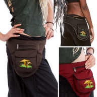 Mushrooms Side Pixie Pocket Belt, Festival Money Belt - Toadstool Side Pocket (WAS7210) by Altshop UK
